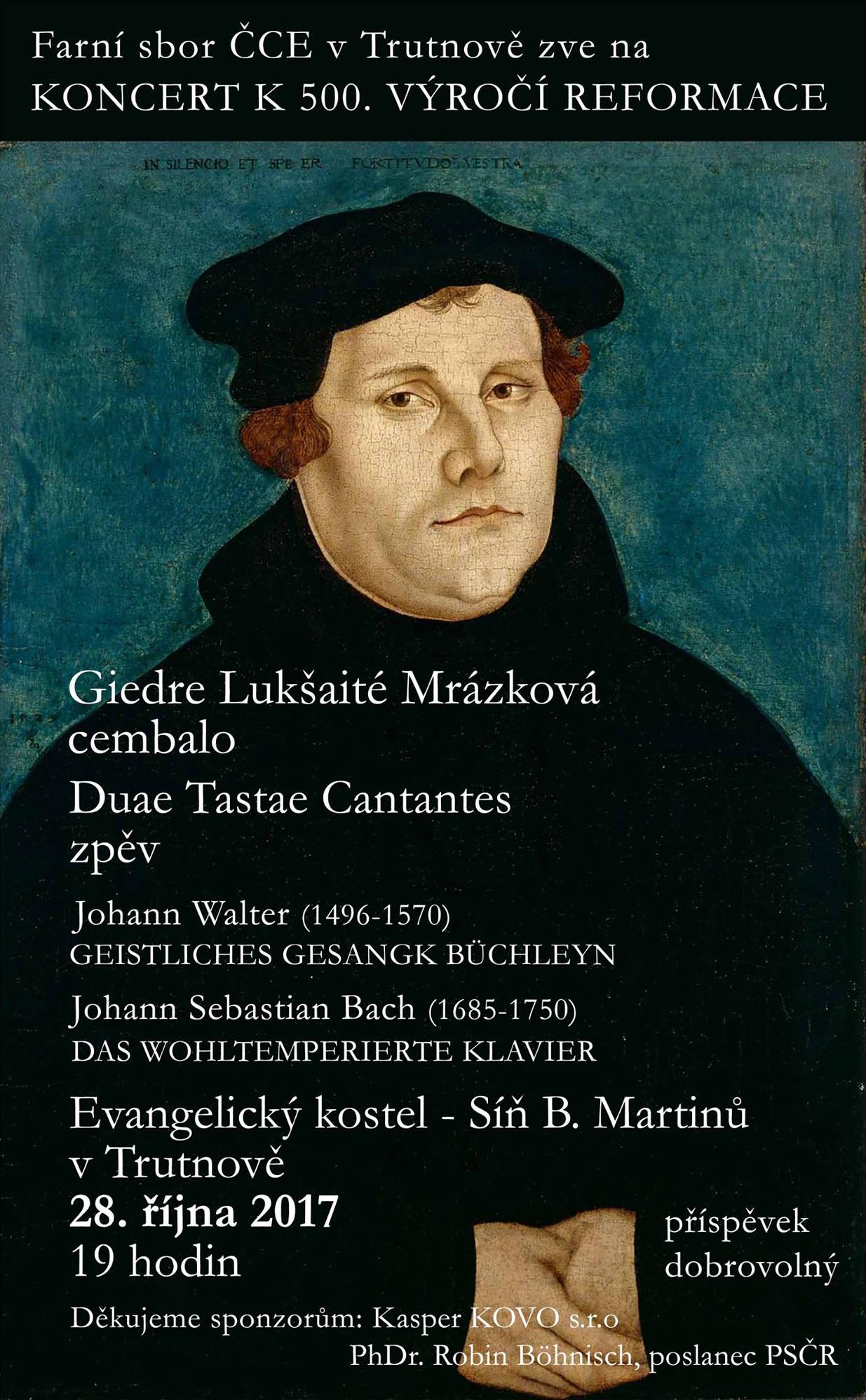 koncert k 500. výročí reformace